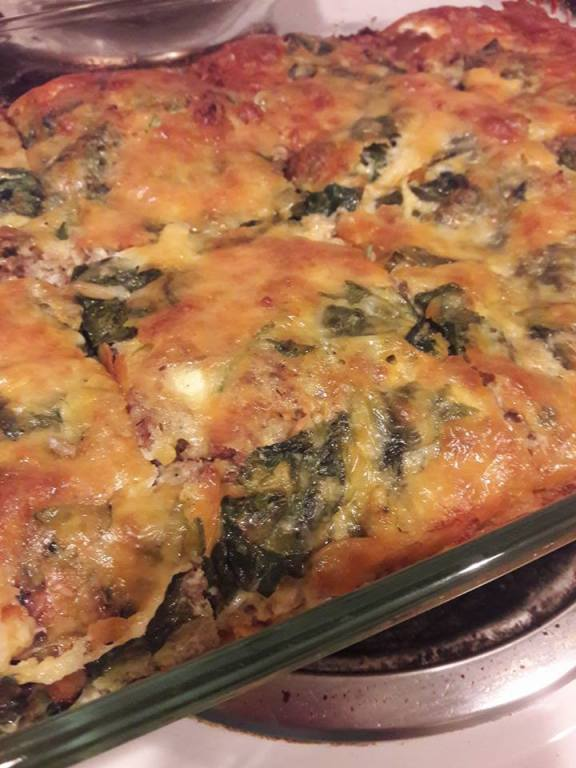 sausage and spinach quiche
