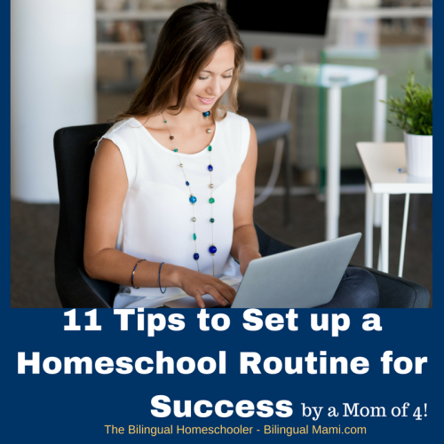 11 Tips to Set up a Homeschool Routine for Success