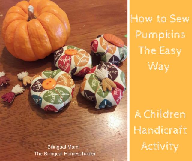 How to Sew Pumpkins the easy way a children handicraftactivity