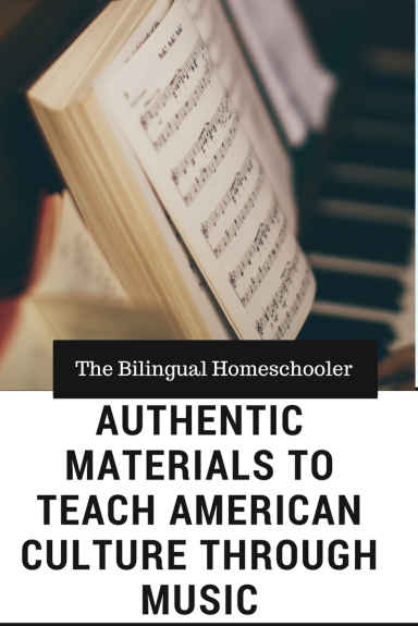 Authentic Materials to Teach American Culture Through Music