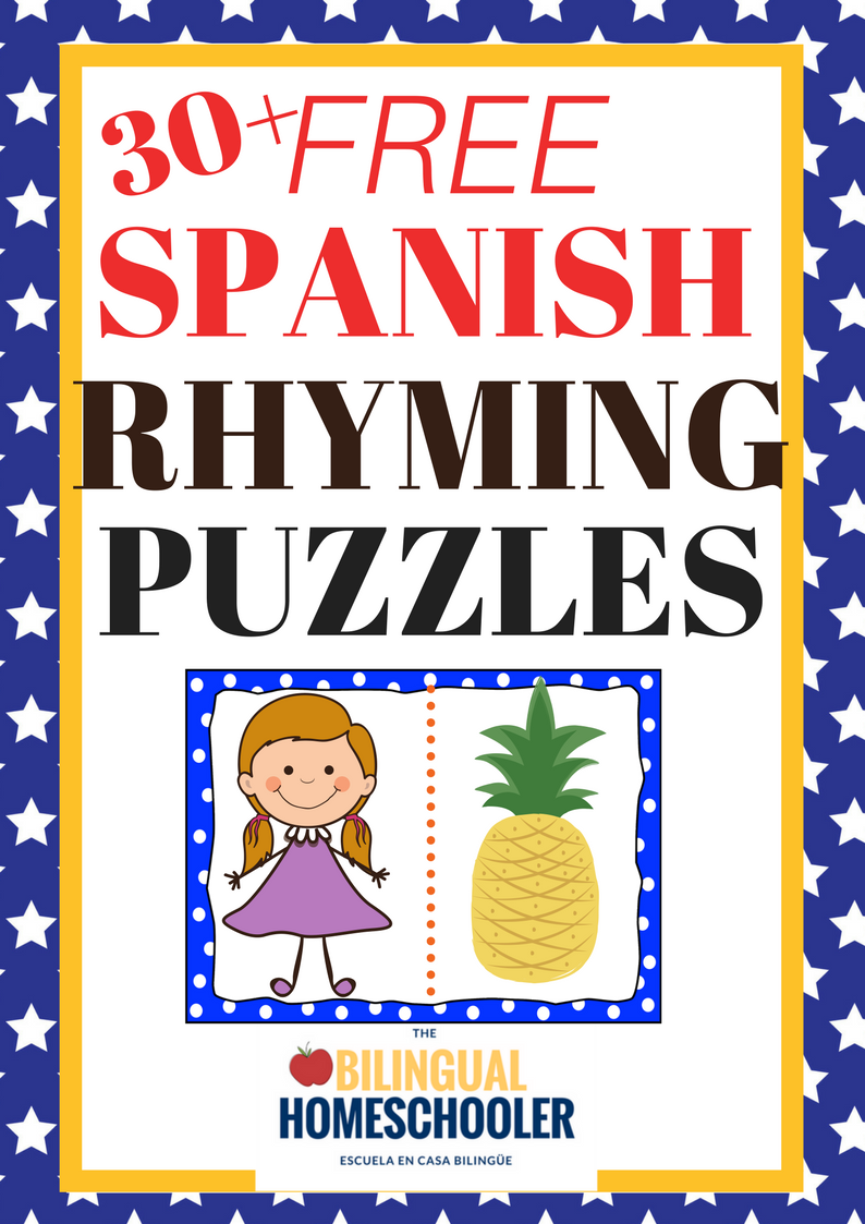 freeSpanishRhymingPuzzles