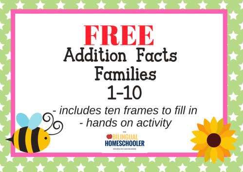 Bilingual mami free addition game for the doubles hands on with free printable freeadditionfactsfamiliesgame stopboris Gallery
